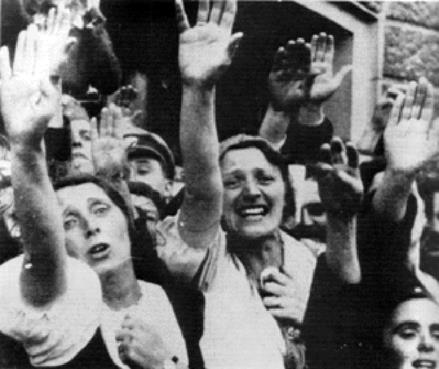 Hitler's big show: Sudeten Germans celebrating Anschluss