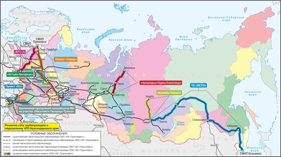pipelines (oil) Russia