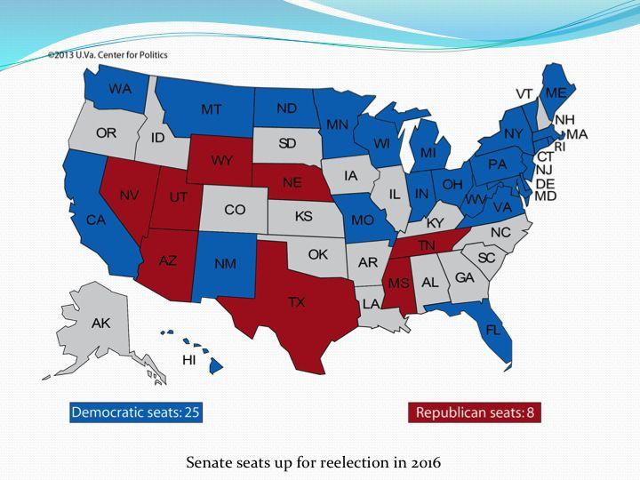 Слайд 12: Розподіл місць у сенаті на перевиборах 2016 року