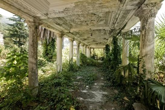 Abandoned railroad station in Abkhazia, photo by sillysidilly.wordpress.com