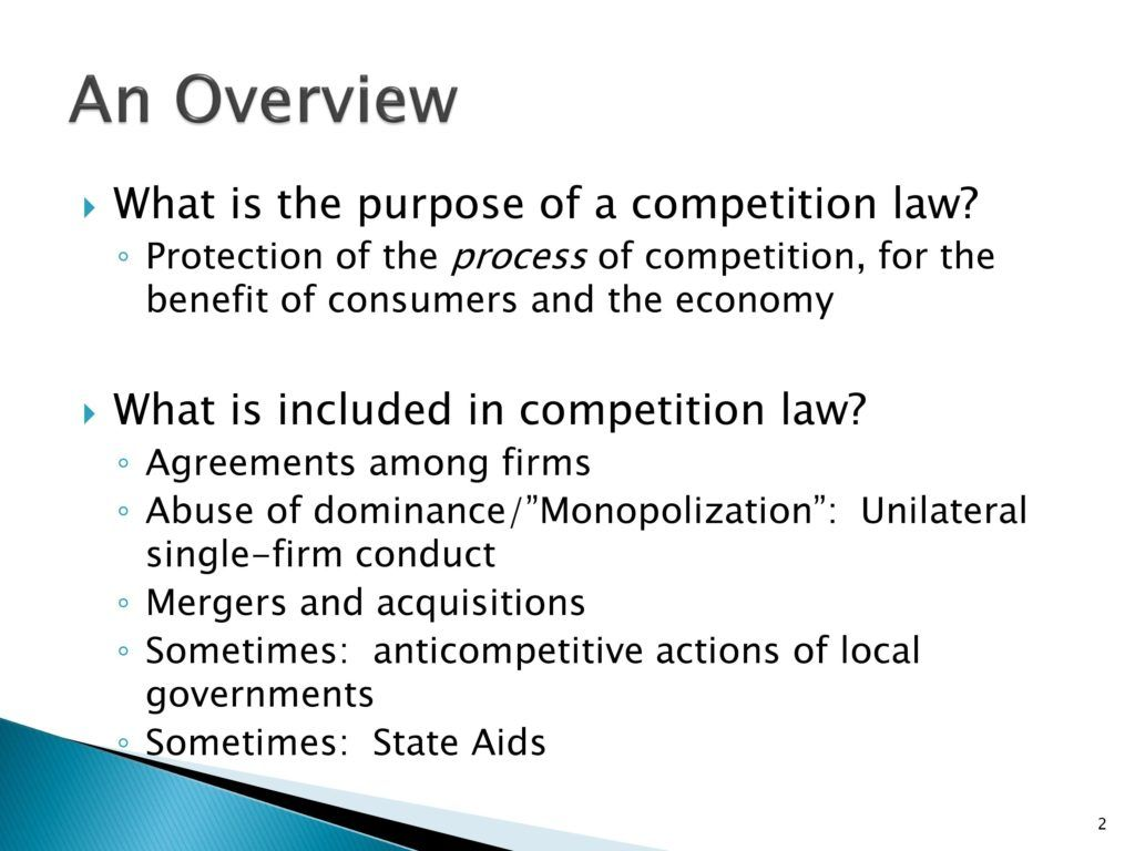 Essays competition law policy