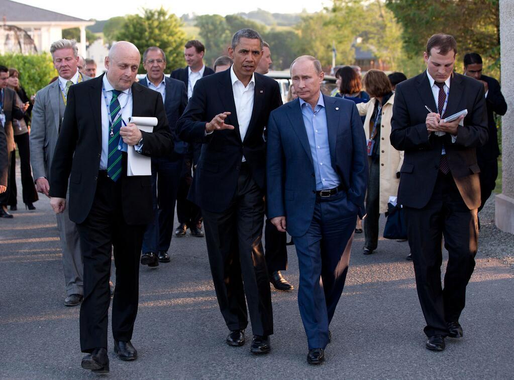 Зустріч Обами з Путіним на саміті Великої вісімки в Ірландії в червні 2013 року. Фото: Піт Суза.