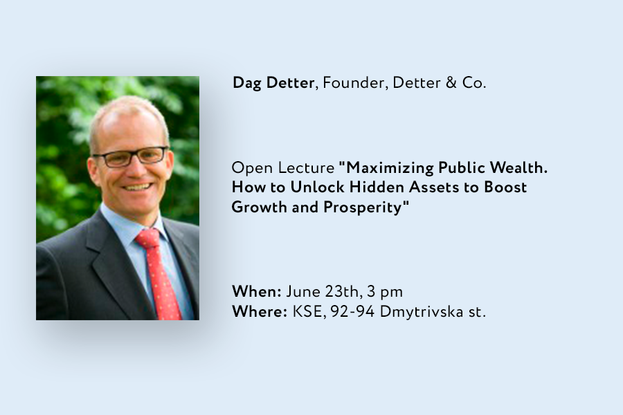 """Open Lecture """"Maximizing Public Wealth. How to Unlock Hidden Assets to Boost Growth and Prosperity"""""""