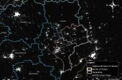 Освітленість у Східній Україні та на територіях міст