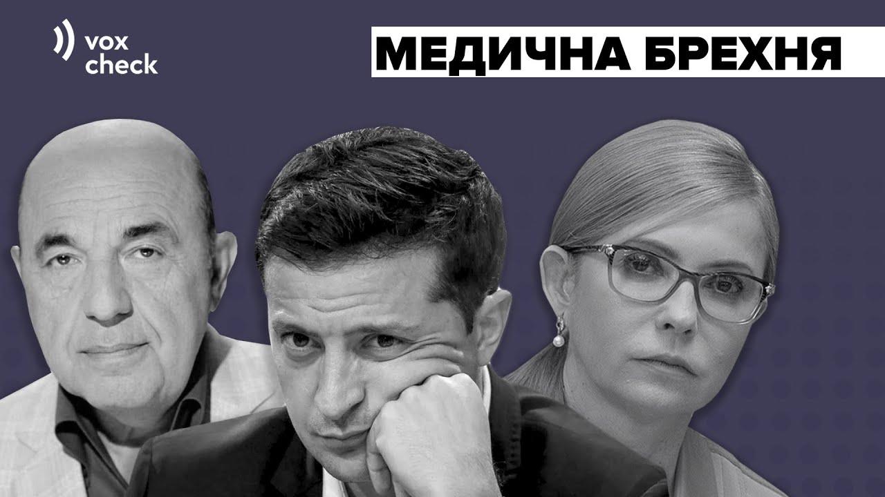 Зеленський, Тимошенко, Рабінович. Хто збрехав про медицину? (відео)