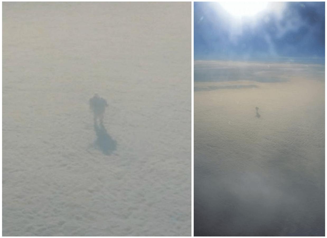 ФЕЙК: Пассажир самолета сфотографировал человека, который гуляет по облаками в небе   VoxUkraine